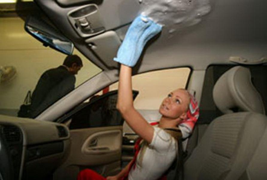 Чистка потолка в автомобиле своими руками